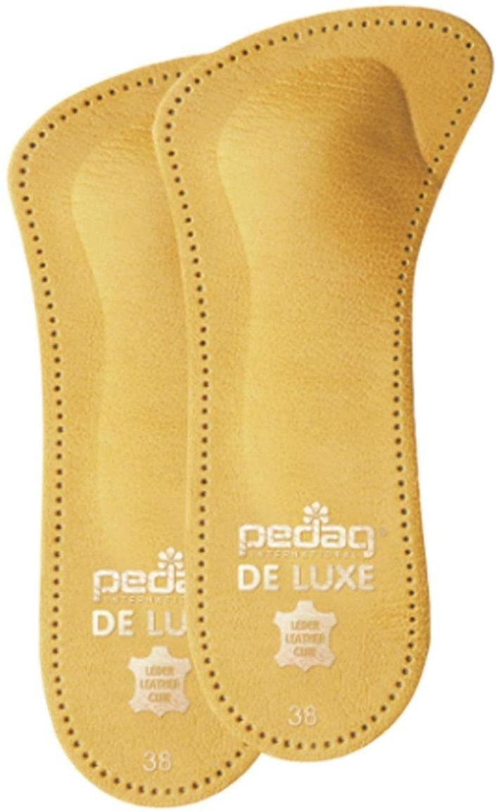 Pedag 123 De Luxe 3/4 Leather Orthotic with Metatarsal Pad, Longitudinal Arch Support, Tan, Women's 8