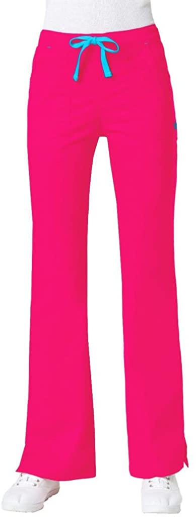 Maevn Women's Multi-Pocket Flare Pants(Passion Pink, Large)
