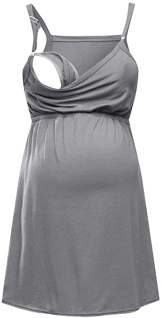 baskuwish Womens Nursing Tank Top Cami Maternity Bra Breastfeeding Shirts