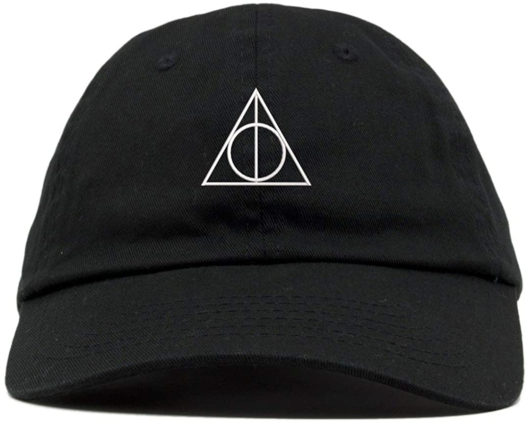 TOP LEVEL APPAREL Deathly Hallows Magic Logo Embroidered Soft Cotton Low Profile Cap