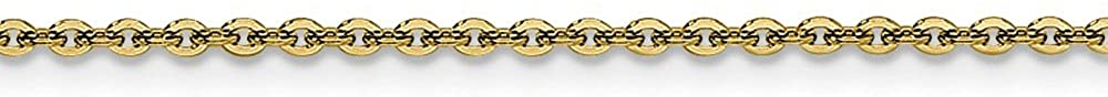 Stainless Steel Gold IP Plated 2.30mm 18in Cable Chain Necklace - with Secure Lobster Lock Clasp