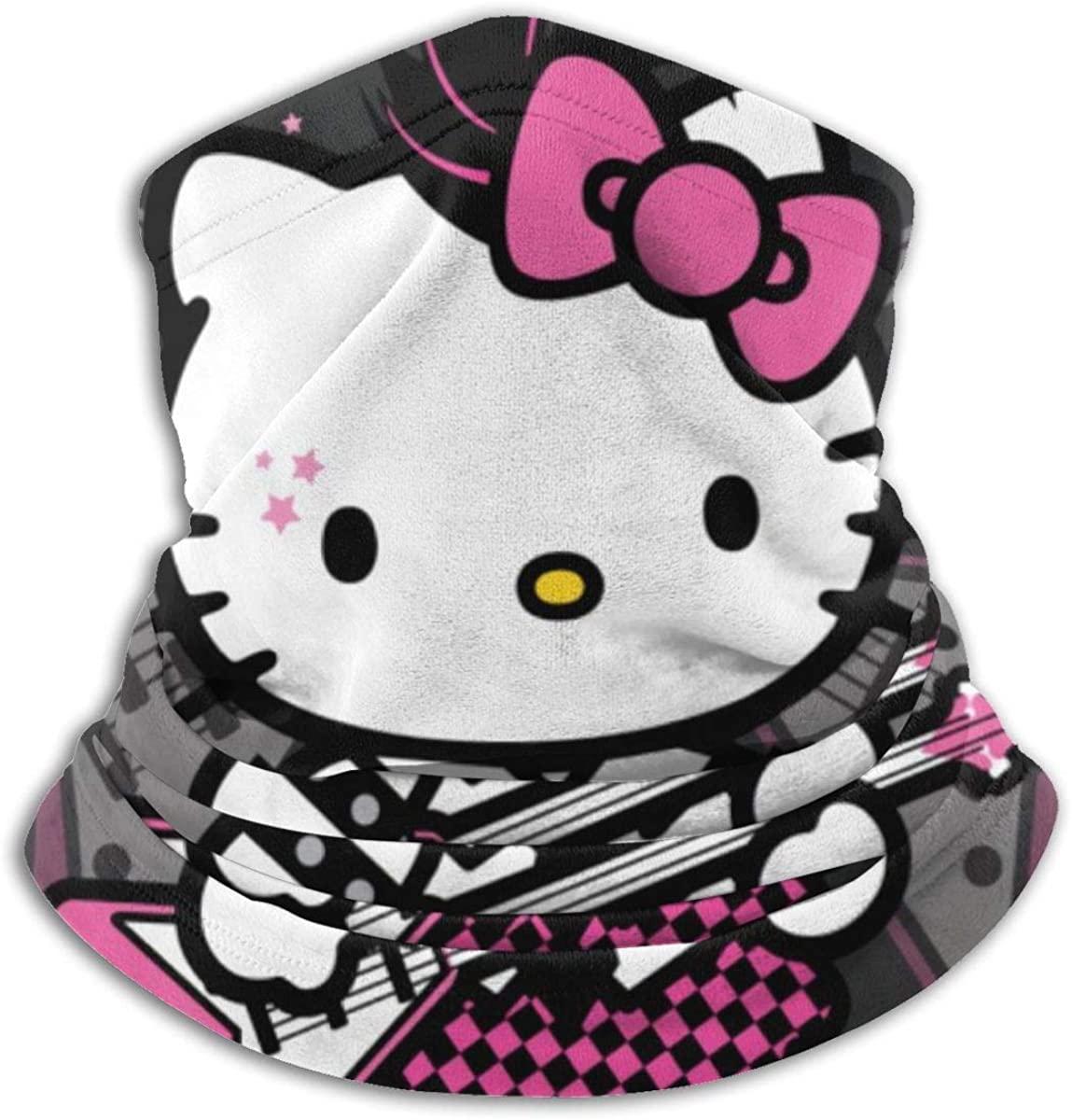 Hello Kitty Bandanas Face Cover Scarf,Dust Wind Neck Gaiter Headbands For Women Men Child Kids