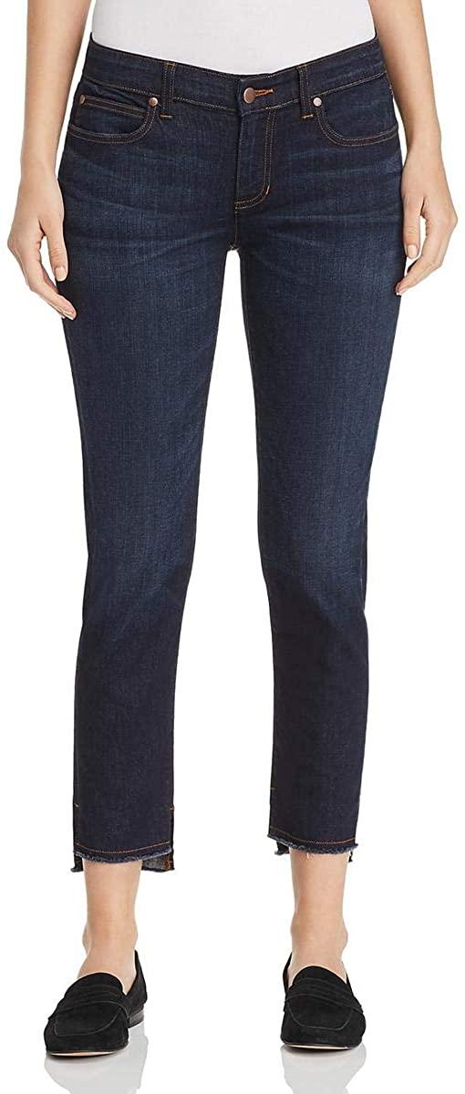 Eileen Fisher Womens Petites Denim Slim Ankle Jeans