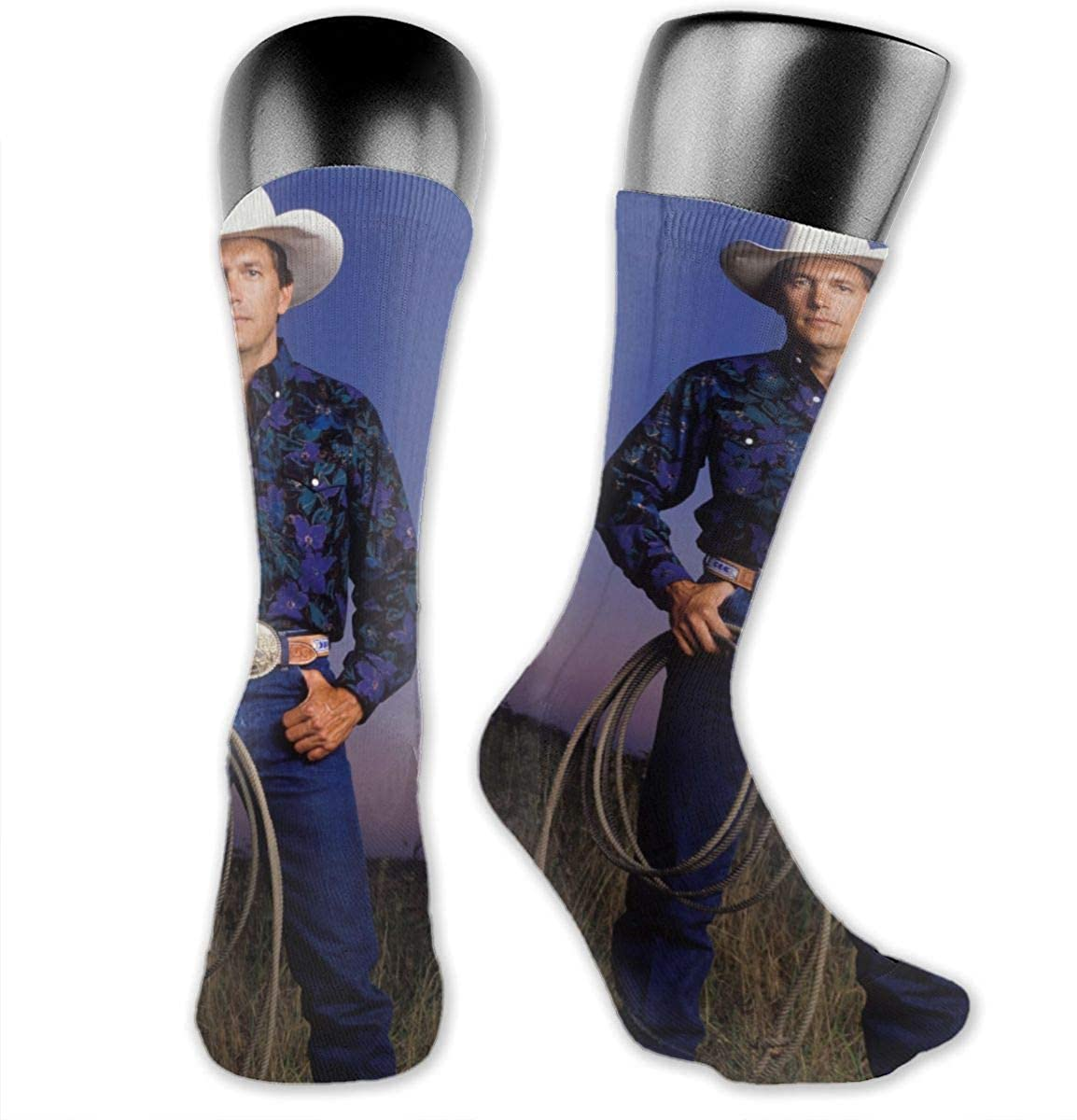 George Strait Strait Out Of The Box Medium Long Socks Dress Hose Novelty Short Anklet For Fitness