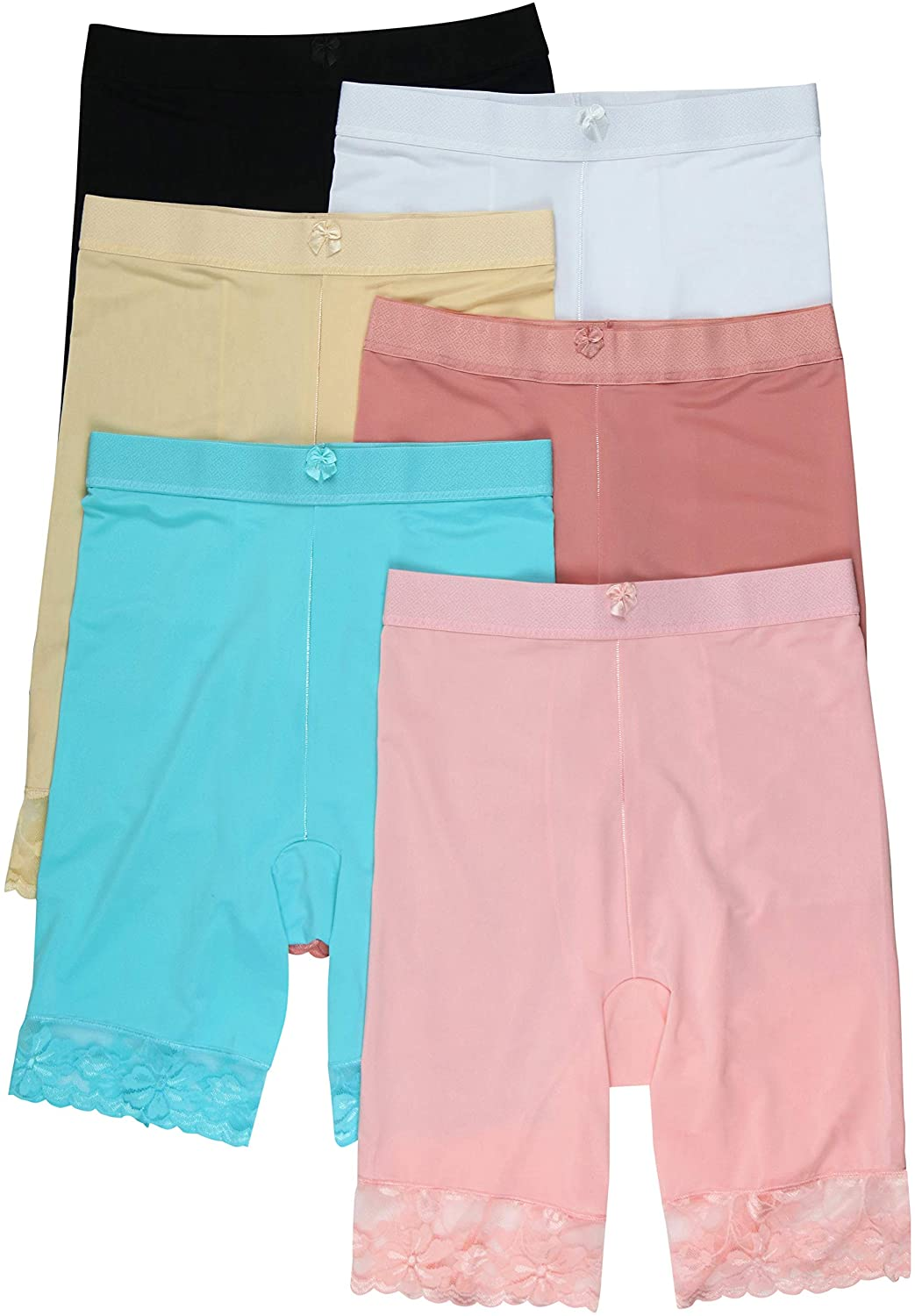 ToBeInStyle Girl's Pack of 6 Seamless Boyshorts