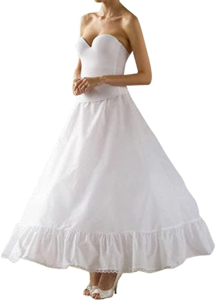 Full Bridal Ball Gown Slip Style 795, White, 8
