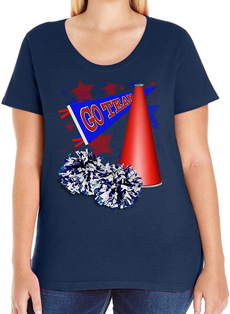 Tenacitee Women's Cheerleading Pennant T-Shirt