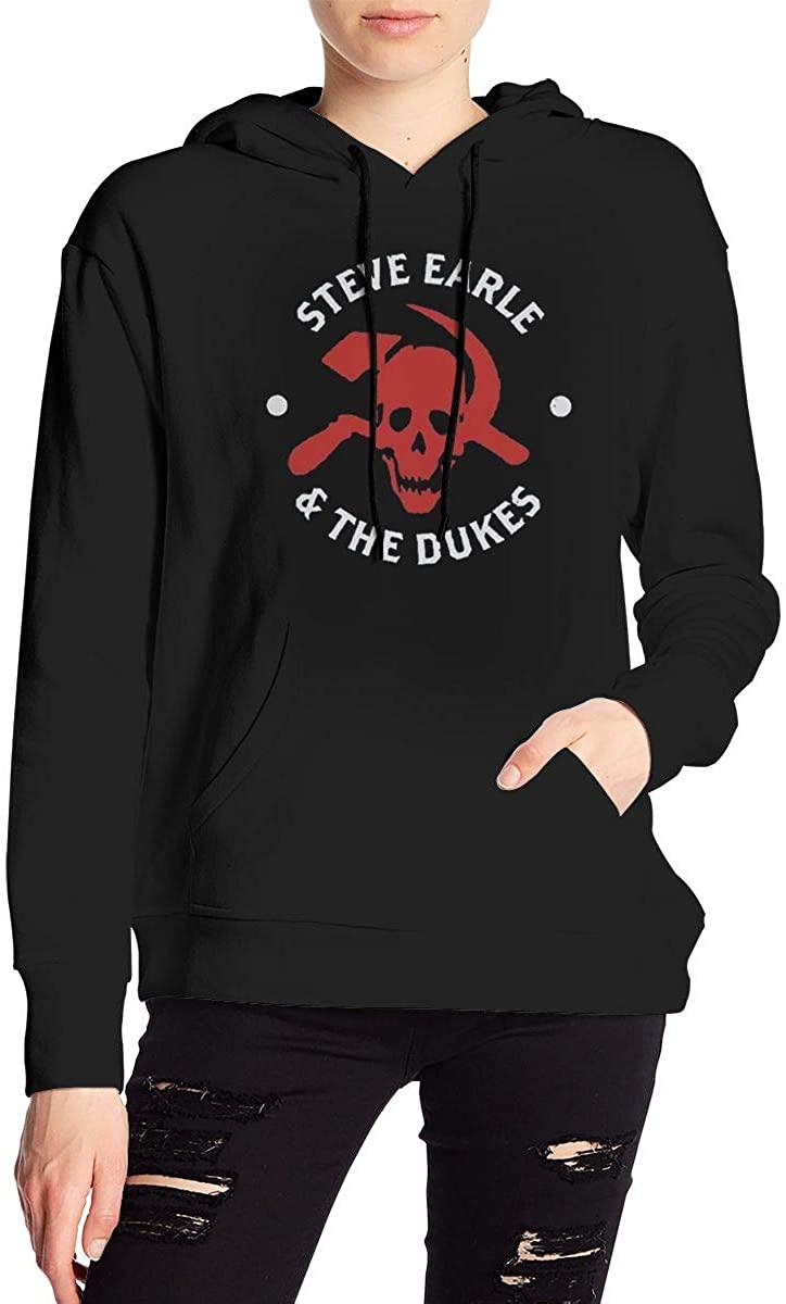 AP.Room Ladies Steve Earle Hooded Sweatshirt Drawstring Casual Fashion Pullover