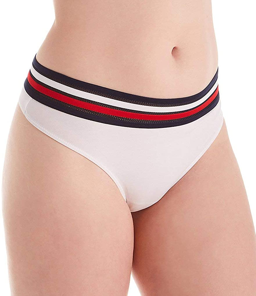 Tommy Hilfiger Womens Classic Cotton Thong R11T609 L Bright White