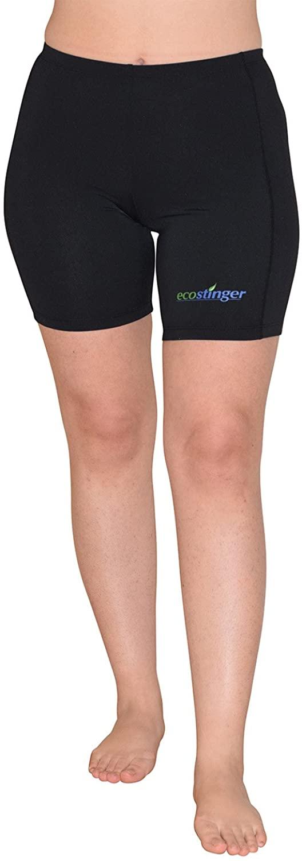 EcoStinger Women Swimming Shorts Above Knee Length Sun Protection UPF50+ Black