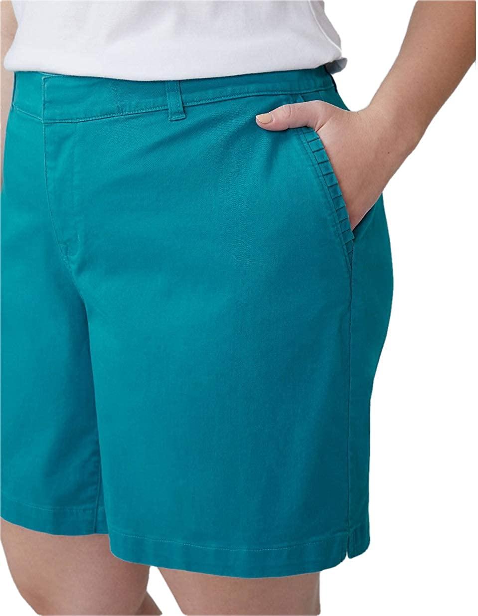 Lane Bryant Tahitian Tide Girlfriend Shorts (16) Green