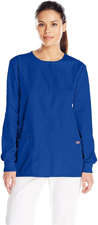 Cherokee Women's Warm Up Scrubs Jacket, Royal, XXXXX-Large