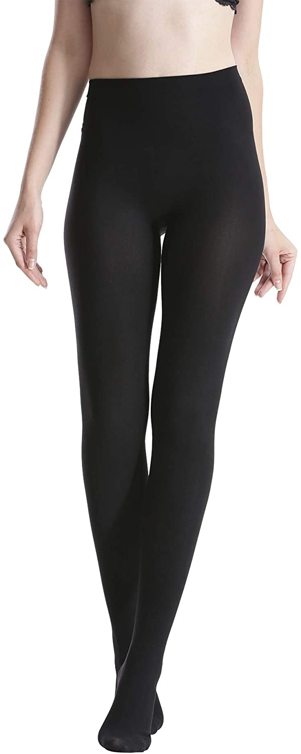 Zeraca Women's Footed Opaque Tights with Control Top 80 D