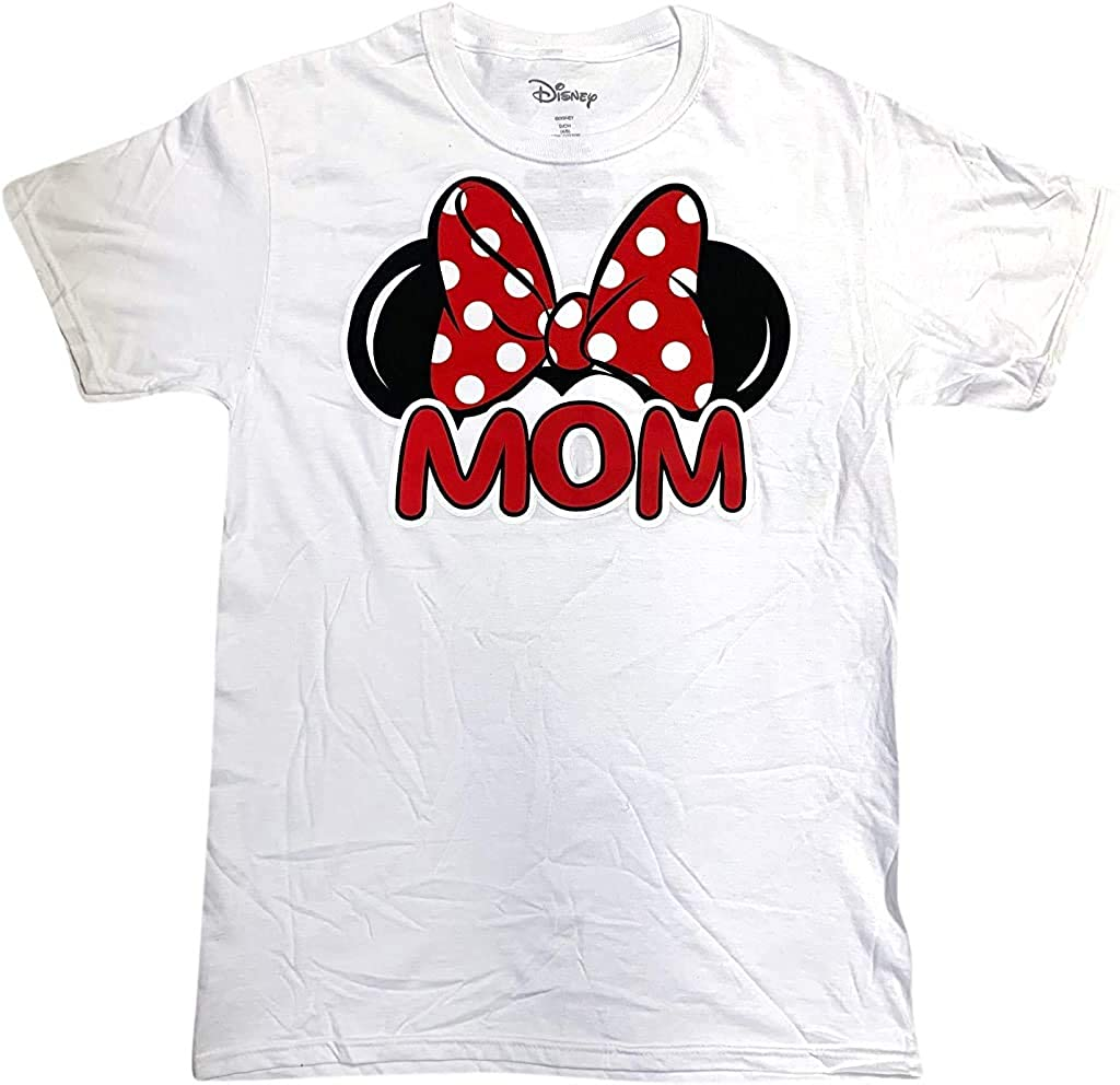 Disney Family Collection White Minnie Mouse Mom Shirt