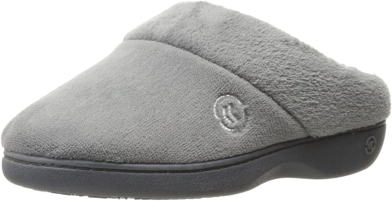 isotoner Womens Terry Slip In Clog, Memory Foam, Comfort and Arch Support, Indoor/Outdoor