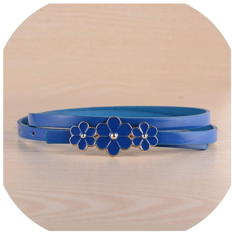 103X1Cm Candy Color 3 Flower Buckle Belts For Women Dresses Female Red Leather Belt Brand Slimming Belts Cinturones N131