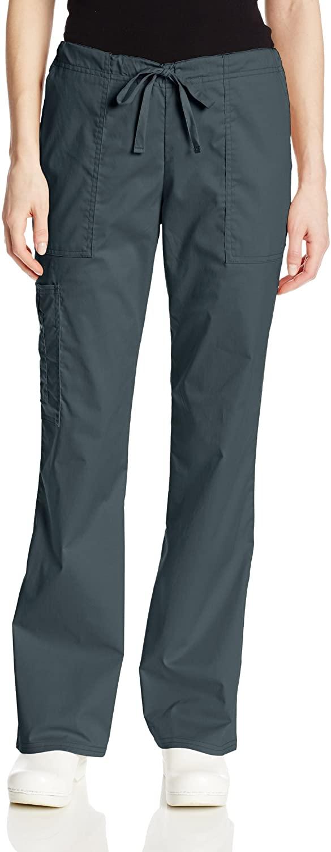 Cherokee Women's Plus Size Workwear Core Stretch Drawstring Cargo Scrubs Pant, Pewter, XX-Large Tall