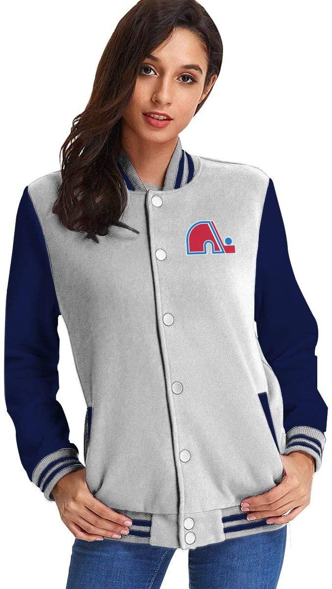 NOT Quebec Nordiques Hockey Team Women's Plus Velvet Baseball Uniform