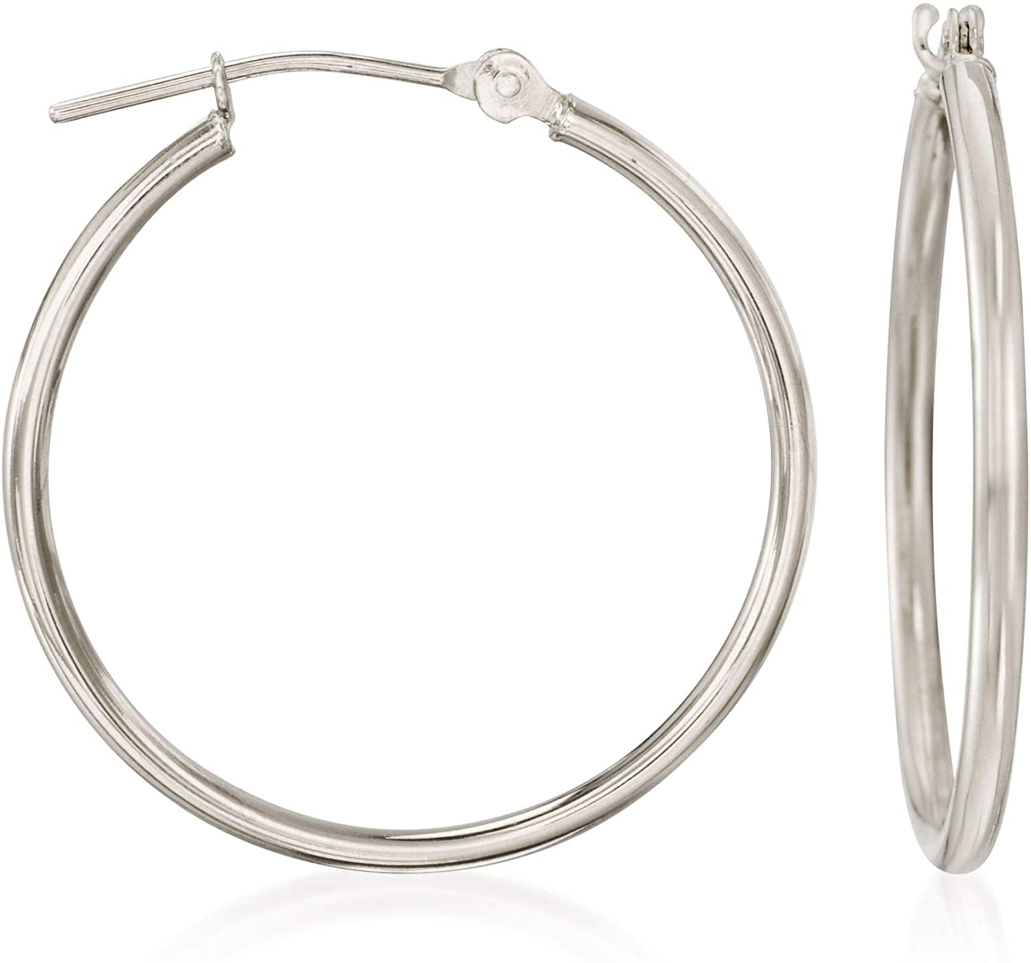 Ross-Simons 1.5mm 14kt White Gold Hoop Earrings