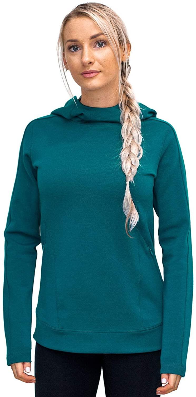 WoolX Elsie - Women's Heavyweight Hoodie - Pullover Merino Wool Sweatshirt