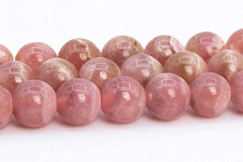 MYNAMI- 5-6MM Genuine Natural Pink Rhodochrosite Beads Grade AAA Round Loose Beads 15.5