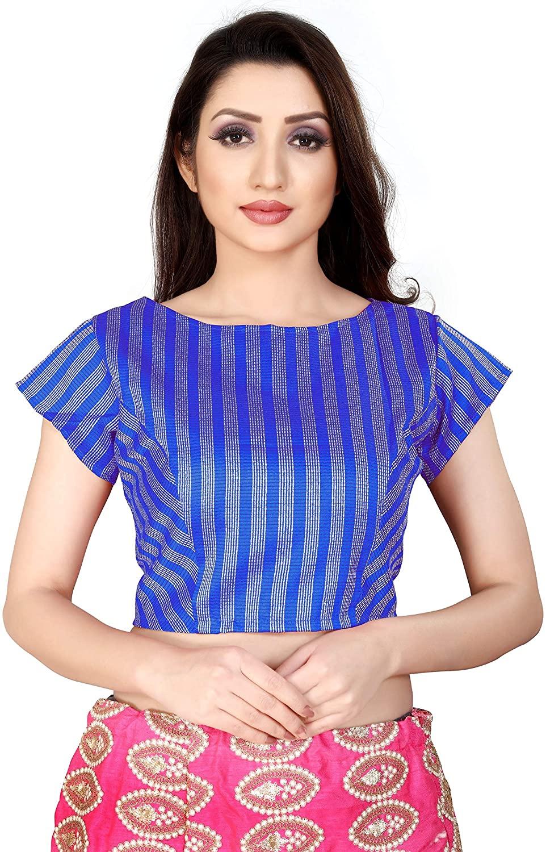 Fressia Fabrics Women Brocade Saree Blouse Readymade Choli
