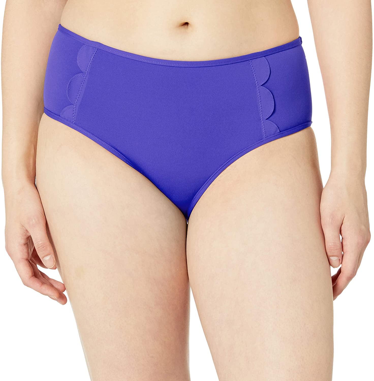 Seafolly Women's Petal Edge Mid Rise Bikini Bottom Swimsuit