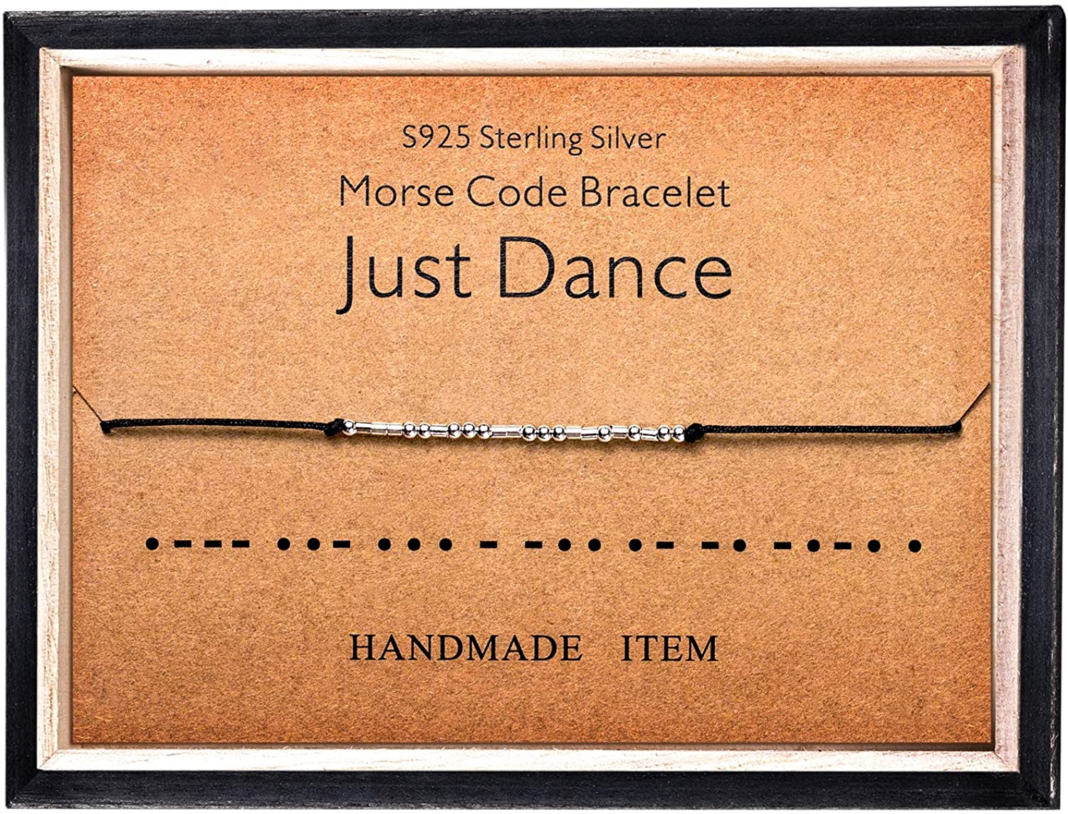 Morse Code Bracelet 925 Sterling Silver Beads on Silk Cord Secret Message Just Dance bracelet Gift Jewelry for her