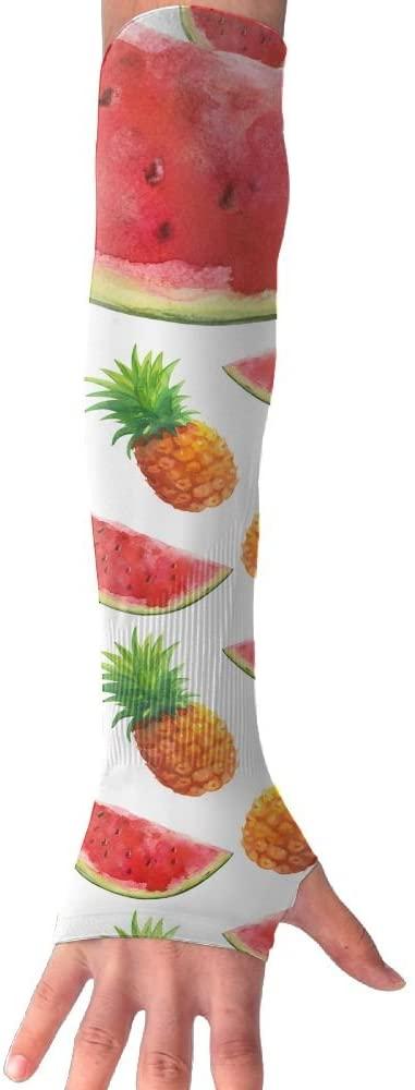MASDUIH Red Watermelon Pineapple Gloves Anti-uv Sun Protection Long Fingerless Arm Cooling Sleeve