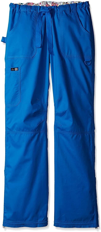 KOI Women's Lindsey Ultra Comfortable Cargo Style Scrub Pants Sizes, Royal, X-Large/Tall