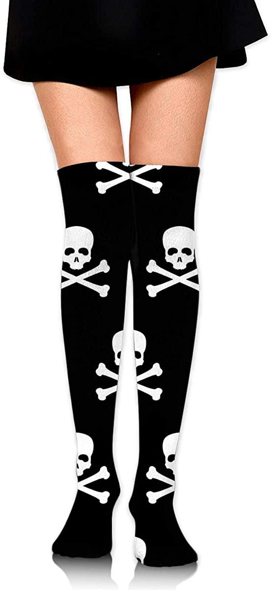Dress Sock Pirate Nautical Skull Pattern High Knee Hose Soccer Hold-Up Stocking