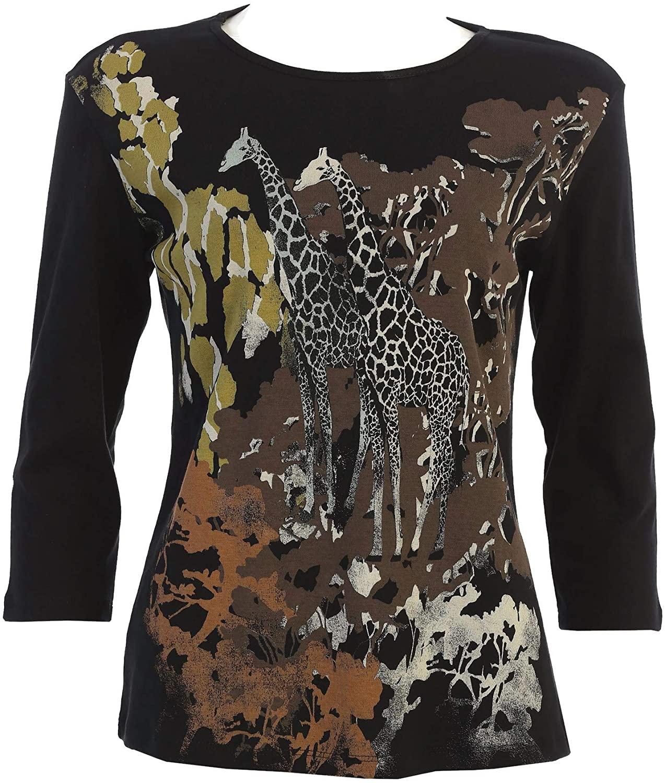 Jess & Jane Women's Kenya Cotton Tee Shirt Top
