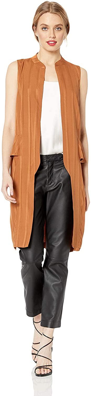 BCBGeneration Women's Lace-Up Back Long Vest