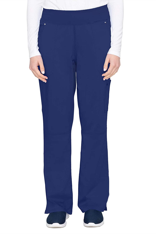 healing hands Purple Label Yoga Women's Tori 9133 5 Pocket Knit Waist Pant Navy-Medium Tall