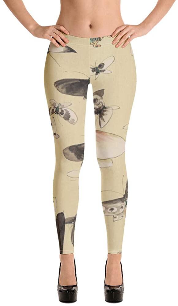 Vintage Style Butterfly Print Leggings