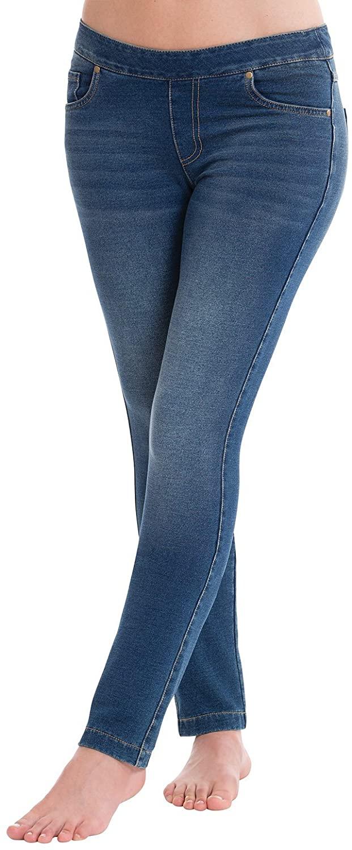 PajamaJeans Womens Stretch Jeans Skinny - Comfy Jeans, Vintage Wash, XS