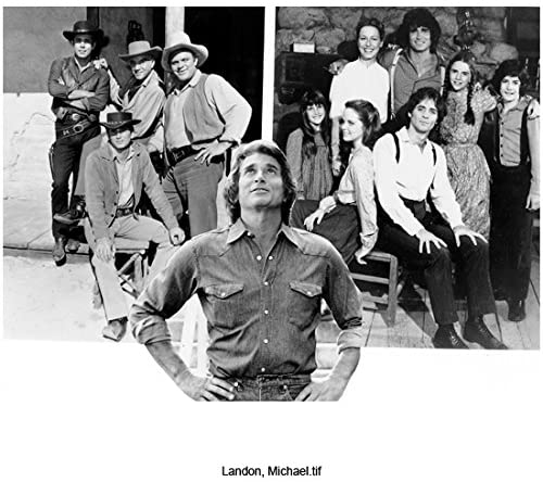 Michael Landon Looking Casually Handsome Standing Hands on Hips Looking Up Black and White 8 x 10 Inch Photo