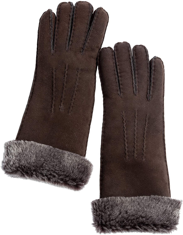 Womens Snowdrop Long Sheepskin Gloves