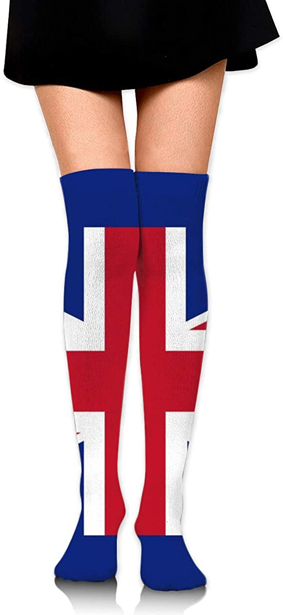Dress Socks Union Jack UK Flag High Knee Hose Tights Hold-Up Stockings