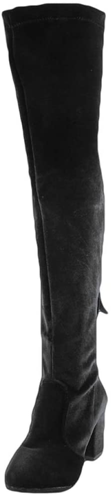MingDe Sports Sexy Over The Knee Boots High Heel Slim Boots Female Motorcycle Boots Women's Fashion Thigh High All-Match Boots Shoes