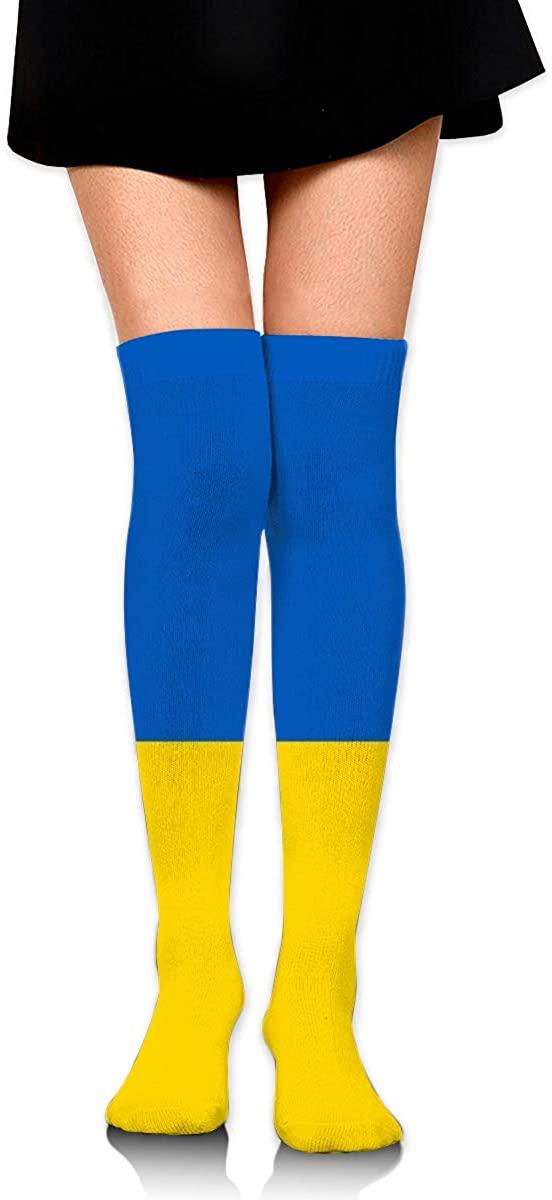 Dress Socks Ukraine Flag Of Blue Yellow Long Knee Hose Soccer Hold-Up Stockings