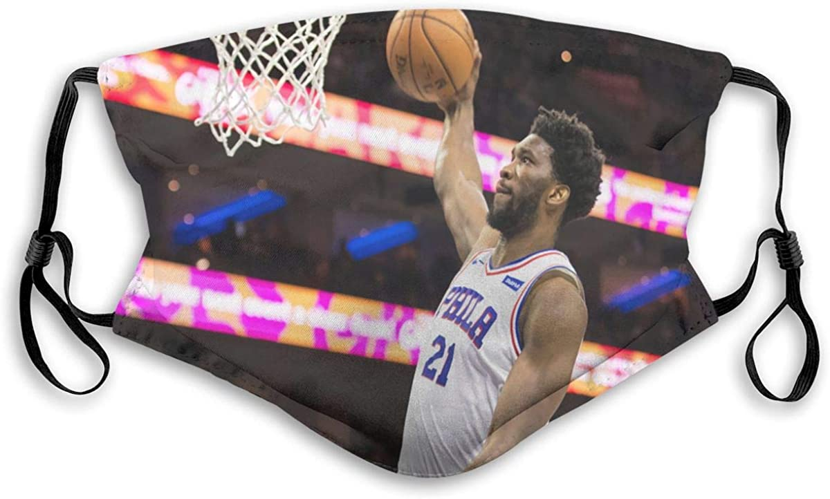 American Basketball Player-Emperor Dust Mask-Reusable Filtered Cotton Comfortable, Breathable and Washable Black