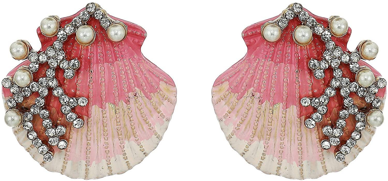 Betsey Johnson Women's Shell Stud Earrings