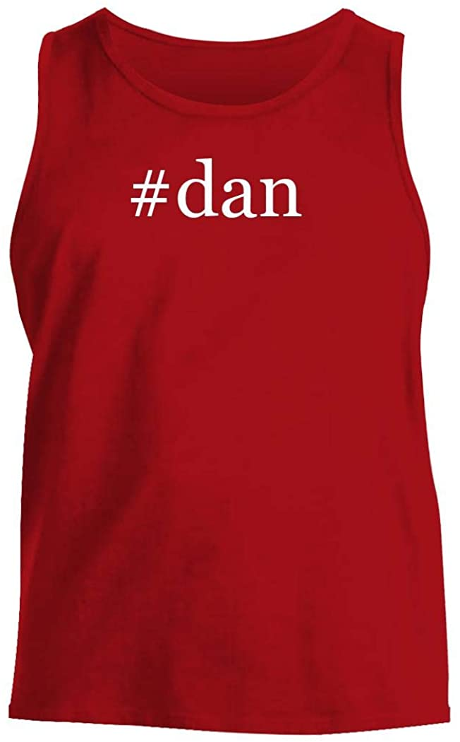 #dan - Men's Hashtag Comfortable Tank Top, Red, Large