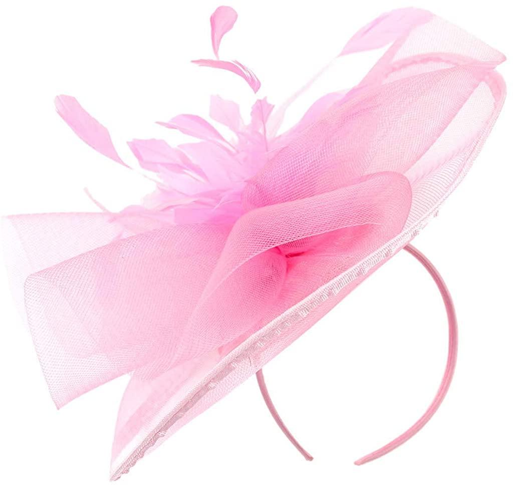 LENXH Solid Color Hair Accessories Arc-Shaped Hat Casual Headwear Mesh Headdress Fashion Headdress