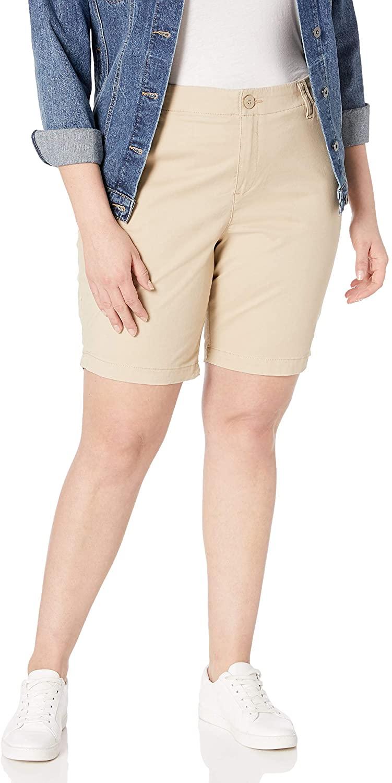 Lee Womens Plus Size Regular Fit Chino Bermuda Short