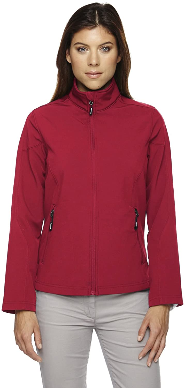 Core 365 Womens Cruise Two-Layer Fleece Bonded Soft Shell Jacket (78184)- Classic Red 850,Large