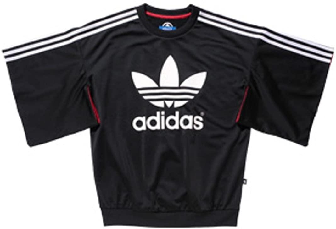 adidas Rita Ora AJ7240 Kimono Sleeve Sweater, XS Black/White