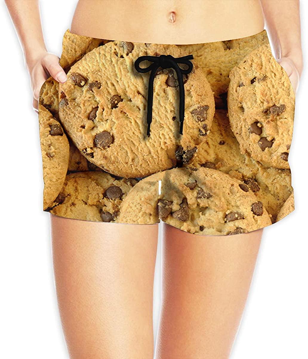 LzVong Chocolate Chip Cookie Women's Female Beach Pants Summer Beachwear Board Shorts