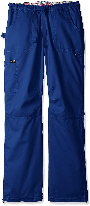 KOI Women's Lindsey Ultra Comfortable Cargo Style Scrub Pants Sizes, Galaxy, Large/Tall